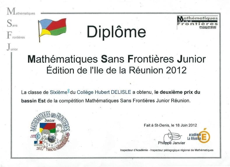 Diplôme 2012